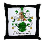 Schurman Family Crest Throw Pillow