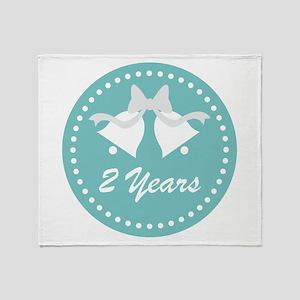 2nd Anniversary Wedding Bells Throw Blanket