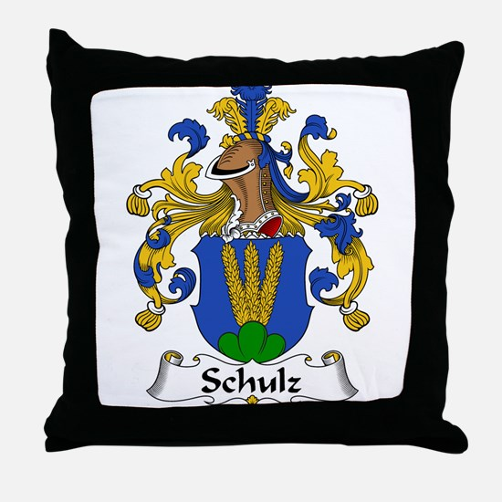 Schulz Family Crest Throw Pillow