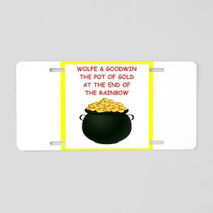 wolfe joke Aluminum License Plate