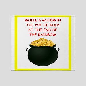 wolfe joke Throw Blanket