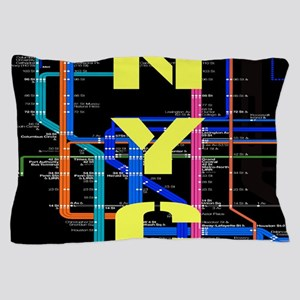 NYC subway map Pillow Case
