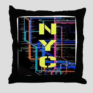 NYC subway map Throw Pillow