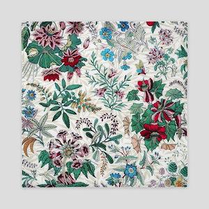 Victorian Floral Design Queen Duvet