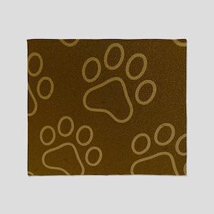 (Pet) Dog Prints Throw Blanket