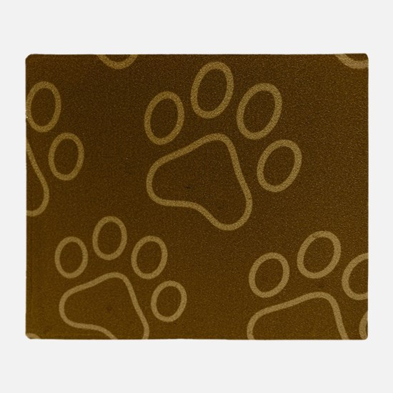 (Pet) Dog Prints Throw Blanket