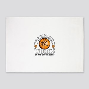 Basketball teamwork 5'x7'Area Rug