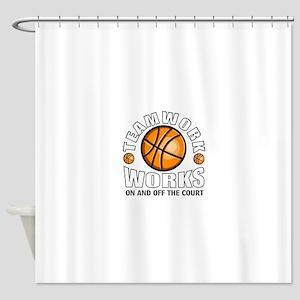 Basketball teamwork Shower Curtain