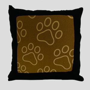 Dog Prints Throw Pillow