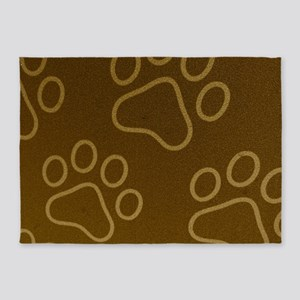 Dog Prints 5'x7'Area Rug