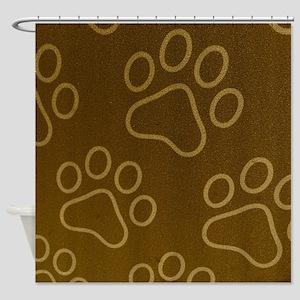 Dog Prints Shower Curtain