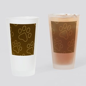 Dog Prints Drinking Glass