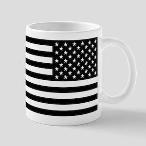 U.S. Flag: Black Reverse 11 oz Ceramic Mug