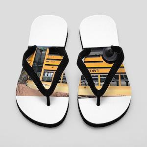 School Bus Flip Flops