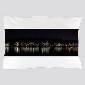 Boathouse Row Night Panoramic Pillow Case