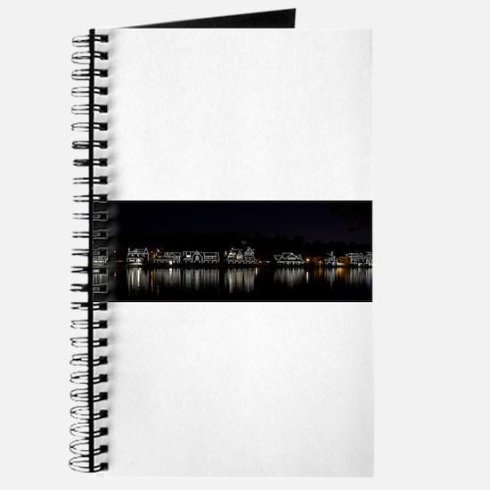 Boathouse Row Night Panoramic Journal