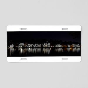 Boathouse Row Night Panoram Aluminum License Plate