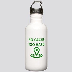 No Cache Too Hard Sports Water Bottle