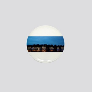 Boathouse Row, Nighttime Panoramic Mini Button