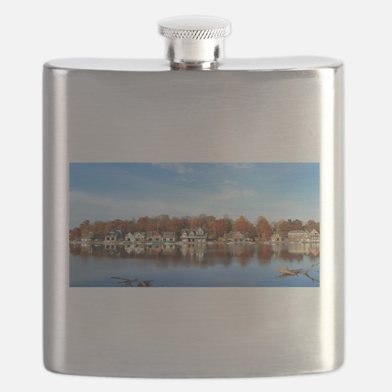 boat house row daytime Flask