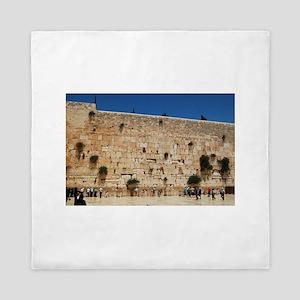 Western Wall (Kotel), Jerusalem, Israe Queen Duvet