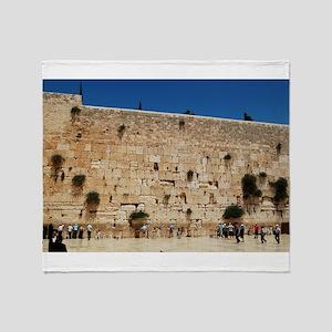 Western Wall (Kotel), Jerusalem, Isr Throw Blanket