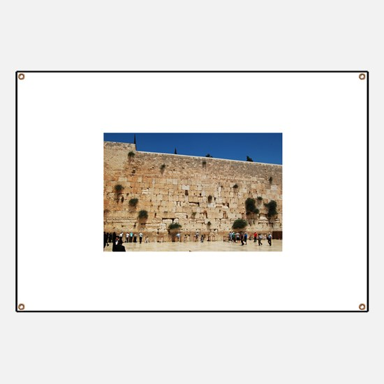Western Wall (Kotel), Jerusalem, Israel Banner