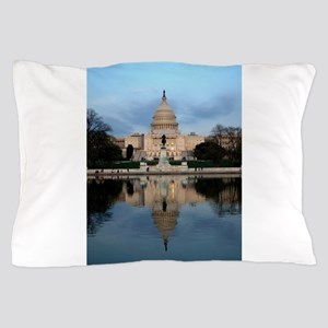 U.S. Capitol Building with Reflection Pillow Case