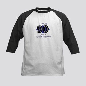 90 YEARS TO LOOK THIS GOOD Kids Baseball Jersey