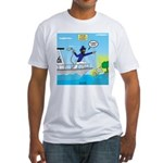 Houseboat Docking Fitted T-Shirt