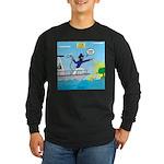 Houseboat Docking Long Sleeve Dark T-Shirt
