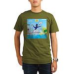 Houseboat Docking Organic Men's T-Shirt (dark)