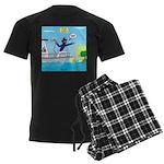 Houseboat Docking Men's Dark Pajamas