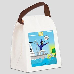 Houseboat Docking Canvas Lunch Bag