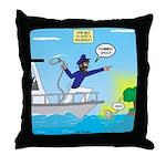 Houseboat Docking Throw Pillow