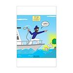 Houseboat Docking Mini Poster Print