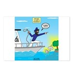 Houseboat Docking Postcards (Package of 8)