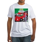 Electric Car Fix Fitted T-Shirt