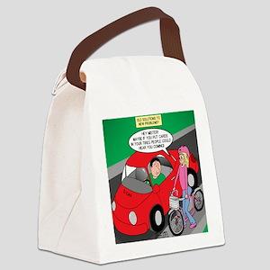 Electric Car Fix Canvas Lunch Bag