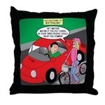 Electric Car Fix Throw Pillow