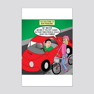 Electric Car Fix Mini Poster Print
