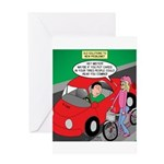 Electric Car Fix Greeting Card