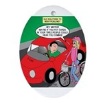 Electric Car Fix Ornament (Oval)
