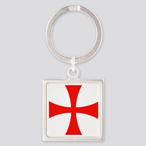 templar cross Square Keychain