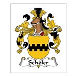Scholer Family Crest Small Poster