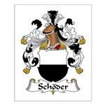 Schoder Family Crest Small Poster