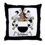 Schoder Family Crest Throw Pillow