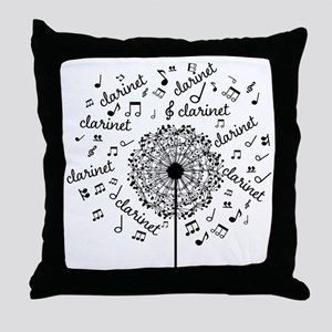 Clarinet Player Music Throw Pillow