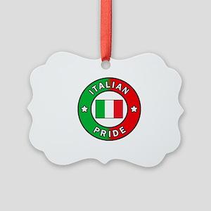 Italian Pride Picture Ornament