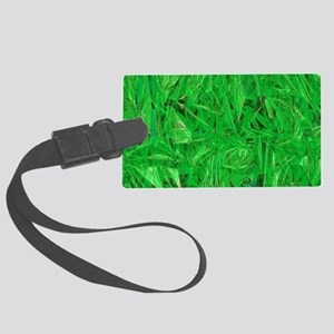Green Grass Large Luggage Tag